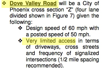 """Dove Valley Road ... Very limited access"" - 2004 Sonoran Parkway Corridor Study, Page 9"