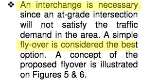"""An interchange is necessary ... fly-over is considered the best"" 2004 Sonoran Parkway Alignment Study, Page 9"