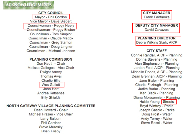 2008 Village Core Plan Acknowledgements