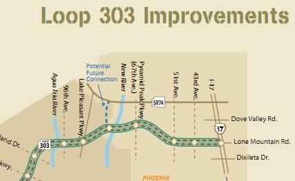 Map Of Loop 303 Arizona.The Loop 303 Aligns With Lone Mountain Rd Put Sonoran Blvd There
