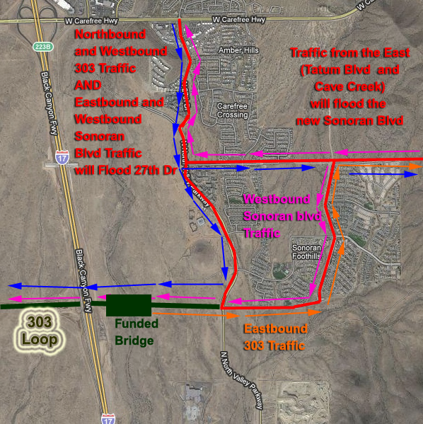 Map Of Loop 303 Arizona.Sonoran Citizens Improvement Association