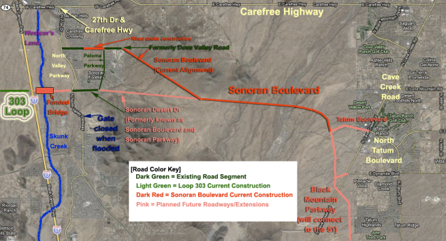 Figure 1: Sonoran Boulevard Reference Map